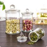 Jarra decorativos de vidro hermeticamente fechados com tampa/recipientes para armazenamento de alimentos