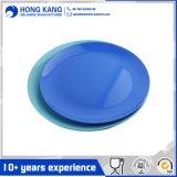 La resina de vajillas de melamina azul placa postre