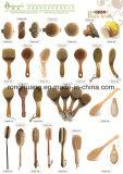 Color Babmoo doble mango largo cuerpo seco Pincel cepillo con cerdas de jabalí