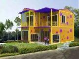 낮게 조립식으로 만들 조립식 이동할 수 있는 콘테이너 집 또는 별장