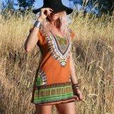 通気性の洗濯できる流行のカスタム女性熱い浜の服に着せる偶然Vの首の不足分の袖