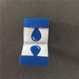 Custom 75D de alta densidad 2*2cm Manhattan etiquetas tejidas de plegado
