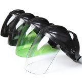 Verde Escuro a luz de cor dos olhos face óculos de proteção da tampa com visor de PC