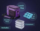 Boîte à lunch sac du refroidisseur d'Isolés W/3 Compartiment sacs du refroidisseur