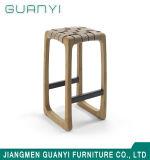 Assento de Couro moderno Cadeira de jantar em madeira de cinzas sólido banquetas tipo bar
