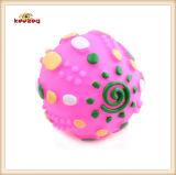 Giocattolo stridulo del cane bello della sfera del giocattolo del vinile dell'animale domestico (KB1045)
