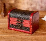 La coutume et de commerce de gros capot Créatrice de haute qualité avec le cuir Boîte cadeau rétro en bois, Emballage de cadeau Box