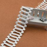 女の子のパーティー向きのドレスのためのアクセサリの梯子のレースの刺繍の綿のレース