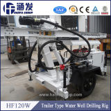 Type plate-forme de forage portative Hf120W de remorque
