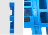 1200*1200*155mm HDPE Op zwaar werk berekende Plastic het Rekken van Shlef van het Dienblad Rackable 1.5t Pallet voor de Producten van het Pakhuis