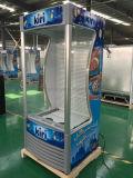 O refrigerador aberto do indicador do supermercado com Ce, CB, ETL aprovou