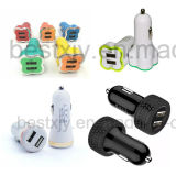 3.1A Carregadores de carro duplo USB para iPhone / iPad / iPod / Mobile Phone