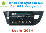 車のDVDプレイヤーとのトヨタLevin 2014年のための新しいUi人間の特徴をもつシステム車GPS