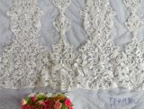 Voile de broderie pour robe de mariée Robe de soirée nuptiale