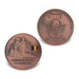 Modifica d'ottone antica della stella della moneta di calcio di campionato del distintivo del metallo