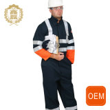 Uniformi riflettenti nere di estrazione mineraria dell'OEM, Workwear dell'uniforme del tecnico
