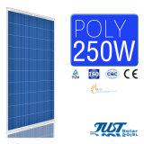 Poly panneau solaire de la haute performance 250W avec la conformité du ce, du CQC et du TUV pour la centrale solaire