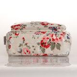 Sac blanc de Crossbody de toile de configurations florales imperméables à l'eau de PVC (99075)