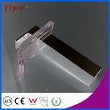 Fyeer hohes Karosserien-Chrom überzogener Farben-quadratische Glastülle-einzelner Griff-Badezimmer-Wäsche-Bassin-Messinghahn-Wasser-Mischer-Hahn Wasserhahn