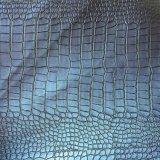 Couro em crocodilo sintético PU para carteiras de sacos Hx-B1737