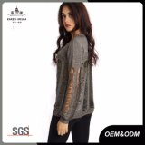 Ladies Distressed Knitwear Clothes Fashion
