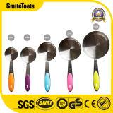 ステンレス鋼の計量カップおよびスプーン5PCS/Set