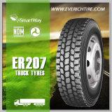 del acoplado 11r24.5 de los neumáticos del presupuesto de los neumáticos neumáticos del carro semi con término de garantía