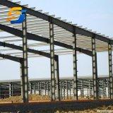 Prefabricados pesados cobertizo de almacenamiento de almacén de la estructura de acero