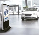 """65 """"安全ガラスが付いている表示を広告する床の立場FHDデジタルLCD"""