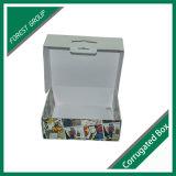 Цветастая напечатанная Corrugated коробка с ручкой