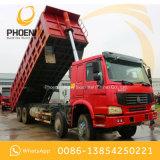 Buona condizione usata delle rotelle 371HP 40tons del ribaltatore 12 dell'autocarro con cassone ribaltabile di prezzi bassi HOWO per l'Africa