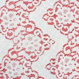 백색 의복 부속품 중국 자카드 직물 레이스
