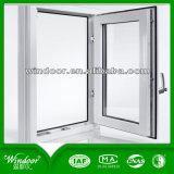 Белым окно PVC цвета застекленное двойником для проекта
