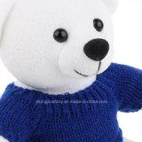 Animais enchidos que desgastam a manufatura do luxuoso do urso da peluche da camisola