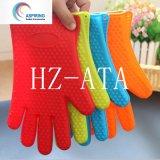 Mikrowellenherd-Handschuh-Silikon-Ofen-Handschuhe mit den Fingern