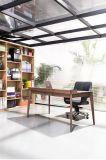 Tabella di scrittura dello scrittorio della noce con la mobilia di legno della gestione del cavo