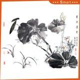 La pintura al óleo china impresa inyección de tinta de la charca de loto para la decoración casera