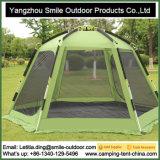 Подвижной складывая шатер партии шестиугольника Greatland семьи стеклоткани быстро