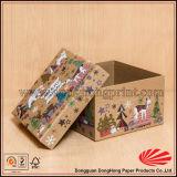 Rectángulo de papel respetuoso del medio ambiente elegante con bisagras especial de Kraft de la tapa