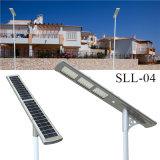 Lámpara ligera solar 48W impermeable de la calle LED del acero inoxidable