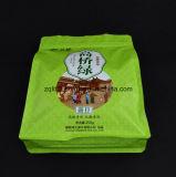 박판으로 만들어진 편평한 바닥은 알루미늄 호일 Zip 자물쇠 1회분의 커피 봉지 Customzied 디자인이 주머니 음식 비닐 봉투를 위로 서 있는 주머니를 위로 서 있다