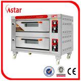 Handelsbacköfen für Gaststätte, ein Tellersegment-Edelstahl-Gas-Plattform-Ofen-Backen-Gerät der Plattform-zwei für Verkauf