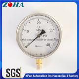 Wika Typ halbes SS-Öl Fillable Manometer IP65 Soem annehmbar