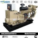 generador marina 80kw de Cummins con la bomba de la agua de mar, el enfriamiento de la quilla o el cambiador de calor