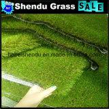 Relvado artificial dobro da grama do revestimento protetor 20mm para o jardim