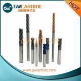 Molinos de extremo estándar de las flautas de la herramienta 4 del cortador del carburo
