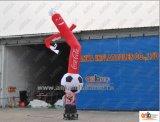20FT aufblasbarer Luft-Tänzer-Himmel-Mann mit Fußball für Außenseite mit mit Gebläse