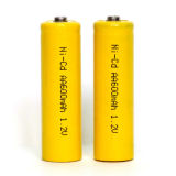Batterie rechargeable Ni-CD d'aa 1.2V