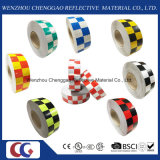 """2 """"。 X 150の' ft。 マルチカラー格子デザイン反射Conspicuityテープ(C3500-G)"""
