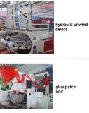 Plástico de alta velocidade automática de plástico dentro de cola de maça de remendo fazendo máquina